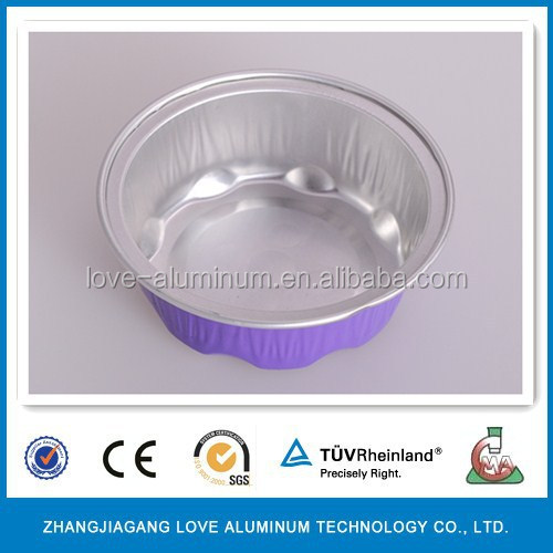 Hot Sale Recyclable Disposable Golden Coated Heart Shape Aluminum Air Foil Box/Aluminium Foil Airline Container Production Line