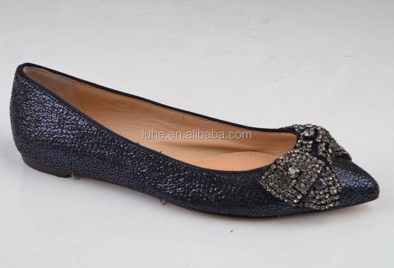 Black Flat Party Shoes Embellished