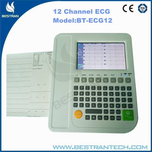 China BT-ECG12 Hospital medical portable 12 Channel ECG machine, digital ecg machine 3 channel