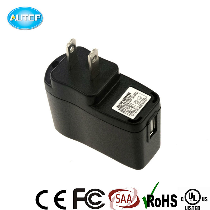 Top Quality 5V 1A USB Charger, 5V US adapter, 5W AC DC Adapter with US plug, Power adapter with CE UL SAA listed.