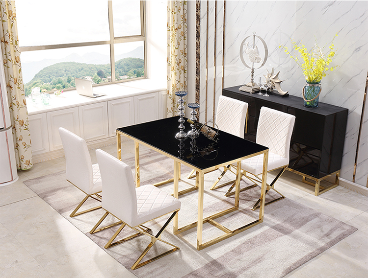 China cabinet dining room set hardware square dining table and chair set