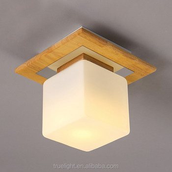 Wood Cheap Ceiling Lamp Flushmount Wall Lamp Square Frosted Glass Crystal Shade Buy Wood Ceiling Lamp Cheap Ceiling Lamp Wall Lamp Product On