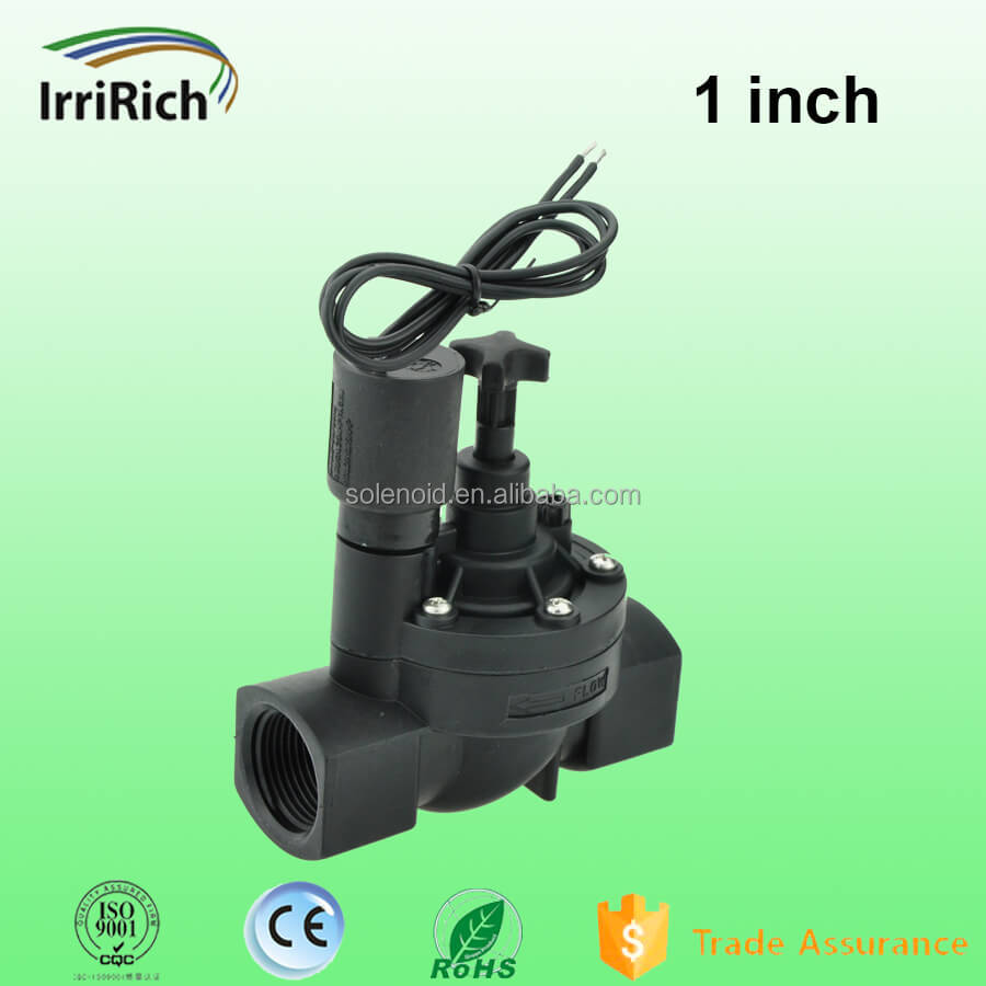 "1"" Nylon 2 Way Manual and Flow Control 12 V Electric Water Valve"