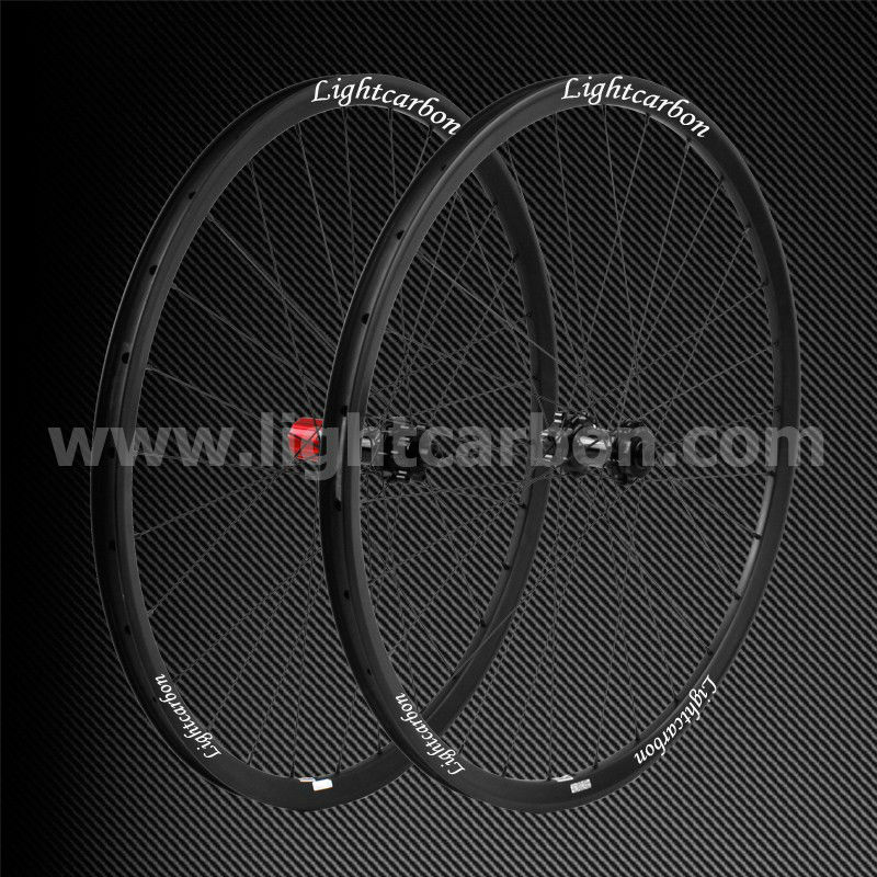 "2014 LIGHTCARBON 29"" pro MTB full carbon wheelset 24mm width thru-axle cross country mountain wheels 2014"
