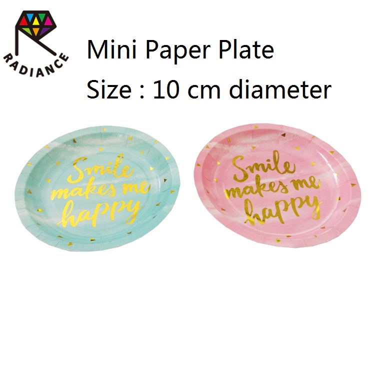 Japan quality Diameter 10cm  mini paper plate snack plate gold foil print