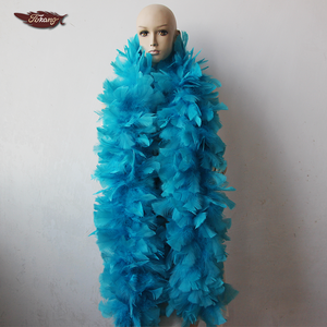 Wholesale 200g 72inch Large Fluffy Turkey Ruff Feather Boas For Dance Performance Decoration