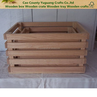 High Quality Custom Natural Color Wood Craft Wooden Crates,Wooden Boxes Wooden Fruit/Vegetable/Wine Case