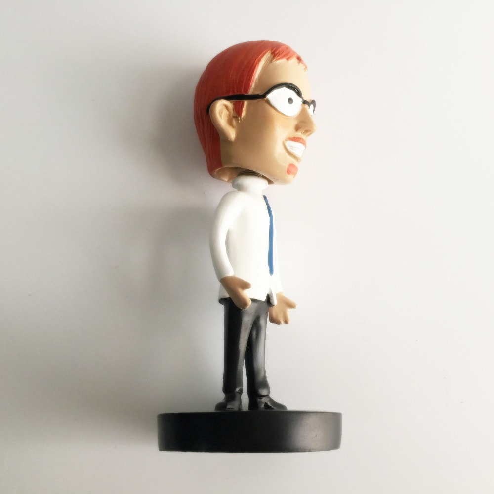 Custom made Resin Anime bobble head dolls , dashboard bobblehead dolls