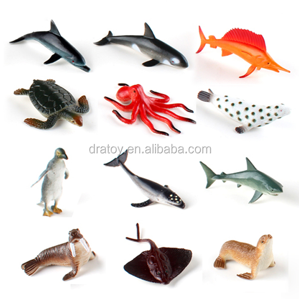 Promotion kinds of pvc shark turtle sea animal toy