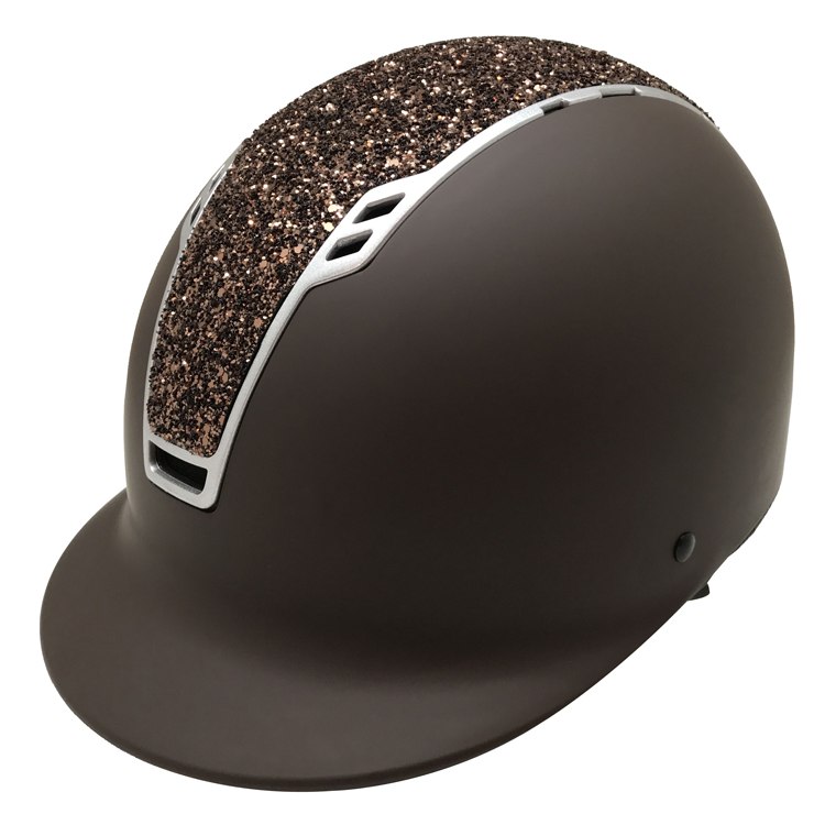 Brown-Horse-Riding-Hats-with-big-glitter