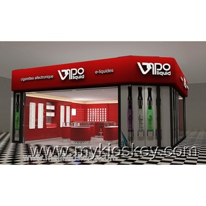 Red vape shop furniture electronic cigarette display counter