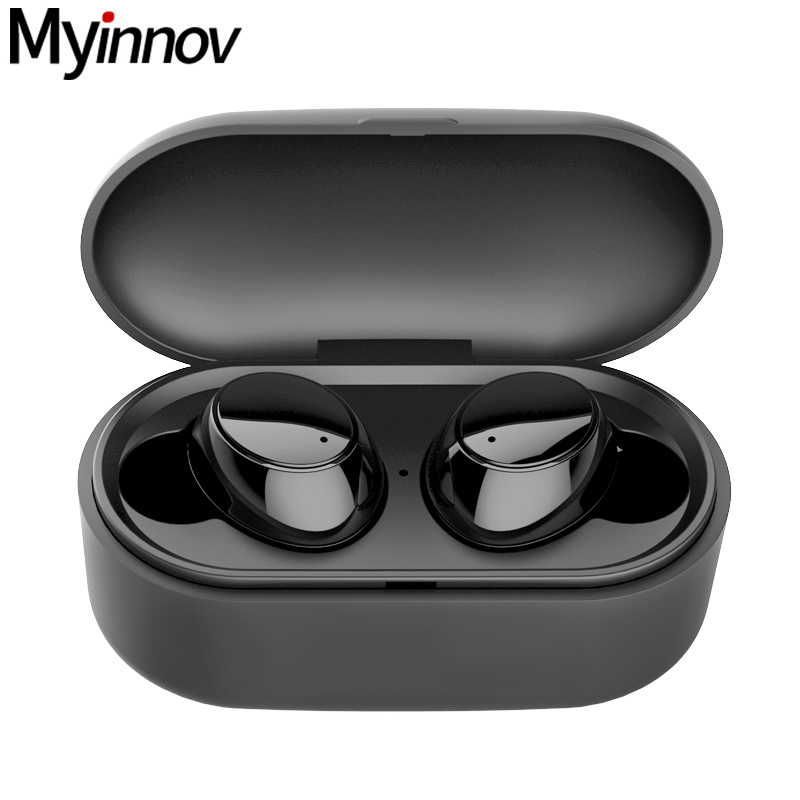 True Waterproof Earphones Y1 HD Stereo Sound Easy Pairing Bluetooth Headphones with 550mAh Charging Case for iOS and Android фото
