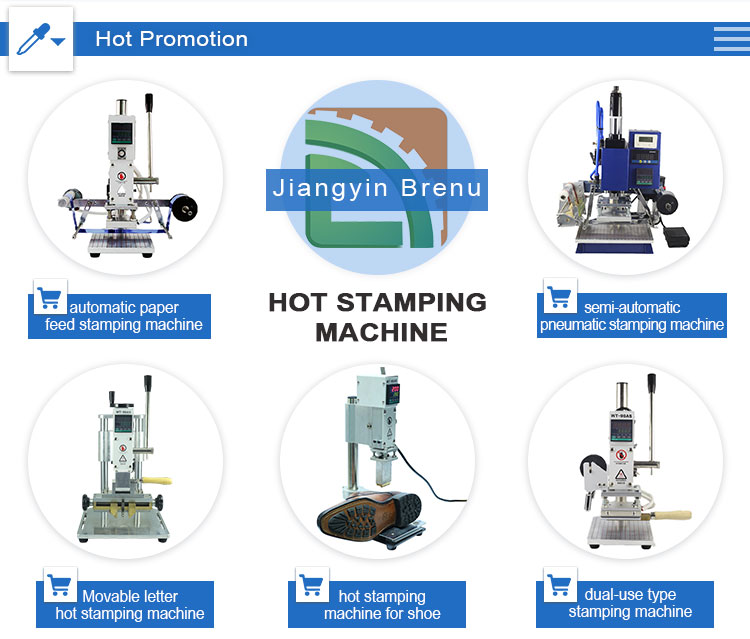 Gold foil automatic digital leather logo embossed hot stamping machine