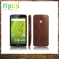 Wholesale Simple Crocodile Leather Back Cover Case for Moto X Play
