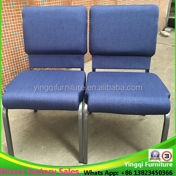 Royal Blue Metal Church Chairs For Sale
