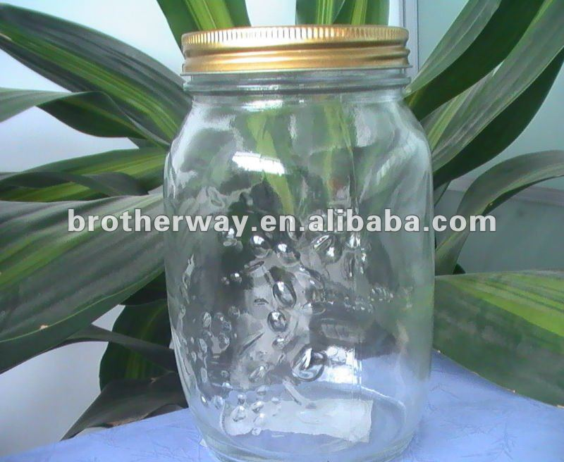 wide mouth glass mason jar,86mm opening mason jar