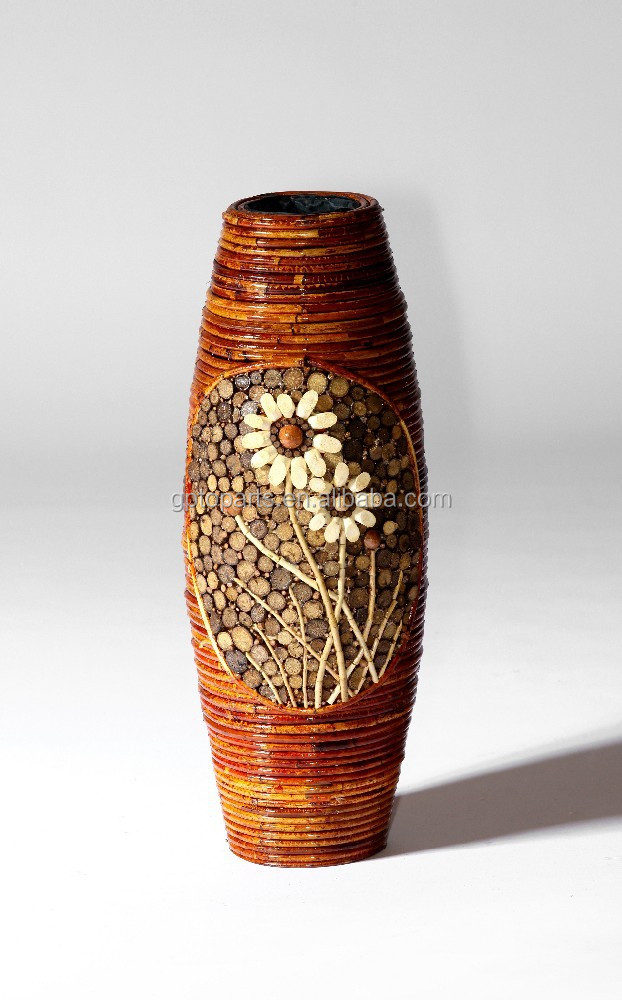 Large Round Willow Wicker Corner Vases Basketswicker Home Decor