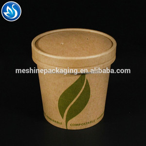 kraft round paper salad bowl rice paper soup cup
