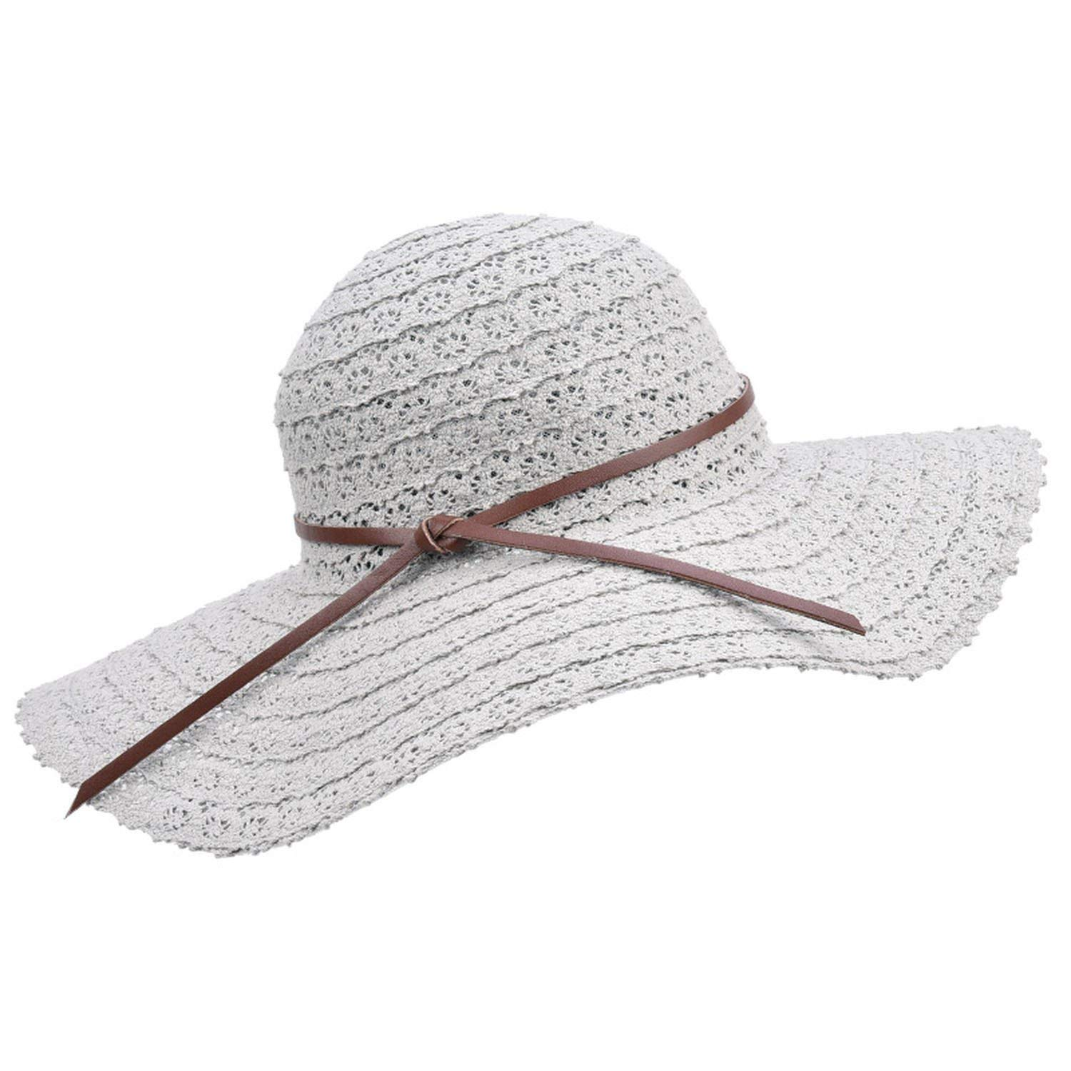 Collocation-Online Women Summer Hat Foldable Sun Hats Beach Caps for Vacation Breathable Straw Hats