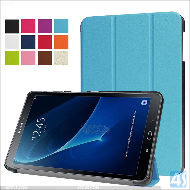 for SAMSUNG Galaxy Tab A 10.1 T580 cover smart case, for samsung tab A pu leather case covers