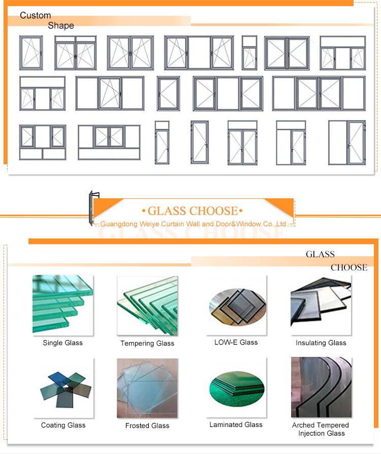 Fluorocarbon finished aluminium narrow frame casement flyscreen window