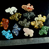 Wholesale gemstone Carving elephants statue,hot sale animal carved stone statue,Mix semi precious stone for sell