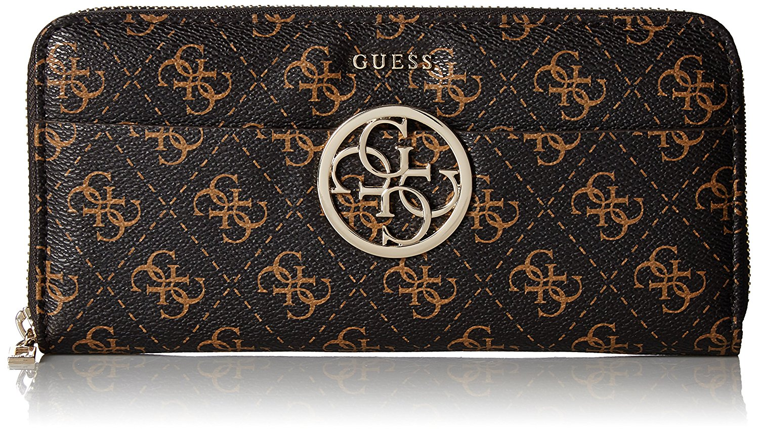 6074f02610 Get Quotations · GUESS Kamryn Q Logo Large Zip Around Wallet