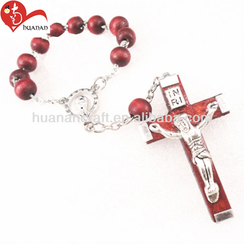 New product Easter christian religious products wooden cross bracelet