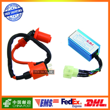 GY6 High performance  ignition coil + 6 pin CDI box for 4 stroke 50cc 125cc 150cc engine type chinese moped scooters