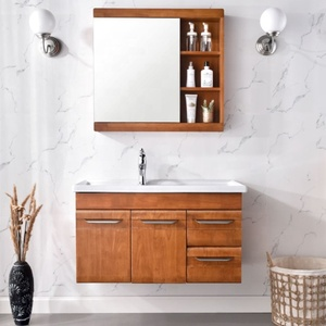 European standard classical style wholesale luxury wood modern bathroom cabinets