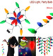 Hot Colorful Led Christmas Light Necklace 13X Bulbs Tree Lights Flashing Strings