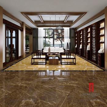 Crystal Gold Onyx Floor Tiles Ceramic