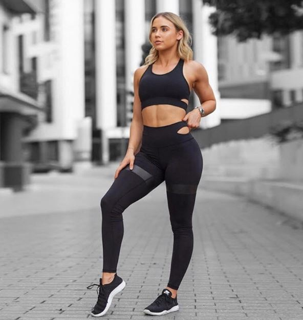 2018 Ebay Amazon Hot Sell Two Pieces Long Pants Sport Sexy Yoga Suits Women