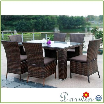 Used Hotel Furniture Cheap Dinning Set Rattan Party Table