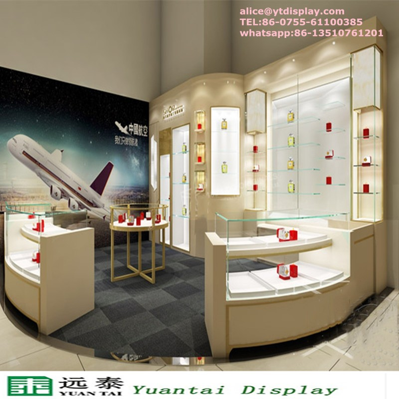 Boutique Shop Counter Design Jewellery Furniture Interior Mall Jewelry Kiosk For Sale