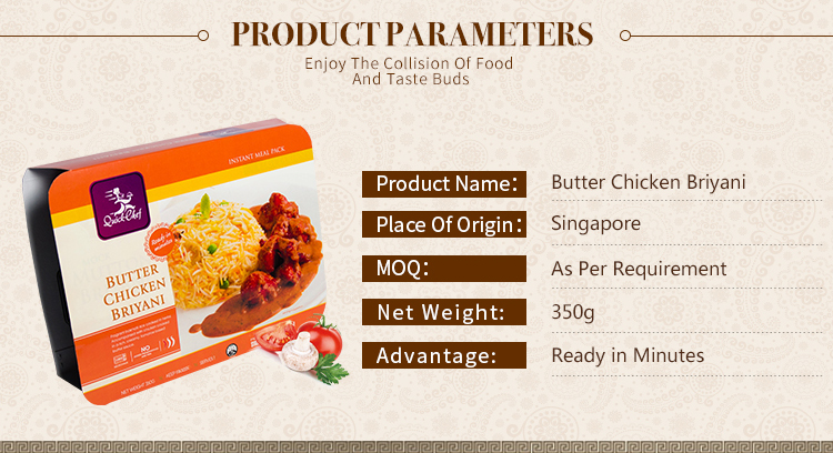Singapore Quick Chef Instant Butter Chicken Biryani Rice