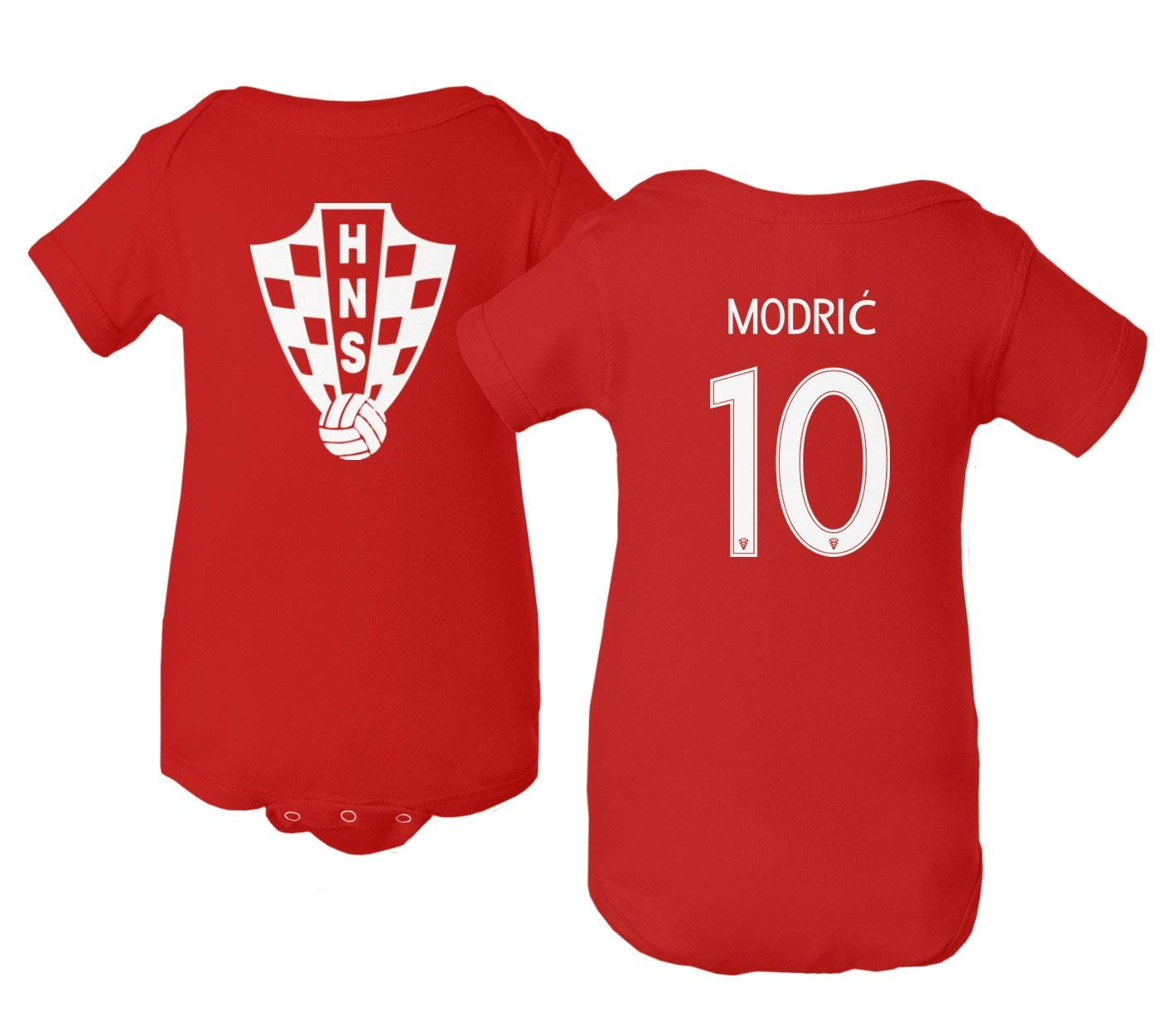 8188bb9831b Get Quotations · Tcamp Croatia 2018 National Soccer  10 Luka MODRIC World  Championship Little Infant Baby Short Sleeve