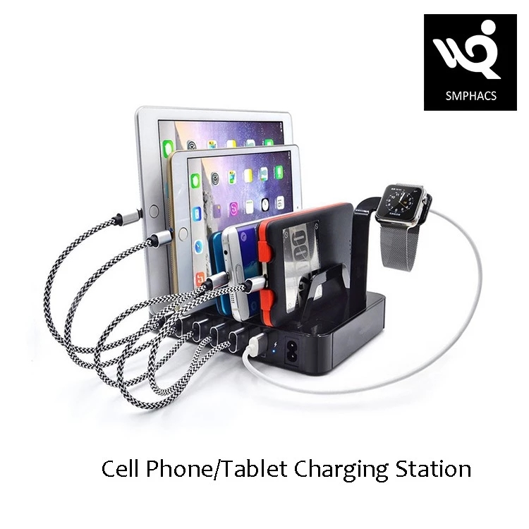 6 USB Charging Station Household Office Charger 1A 2.4A Cellphone Charging Station For i watch Smart phone Tablet