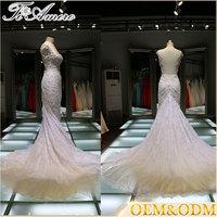 women dress bridal gown 2017 evening party dinner cheap mermaid wedding dress tailor