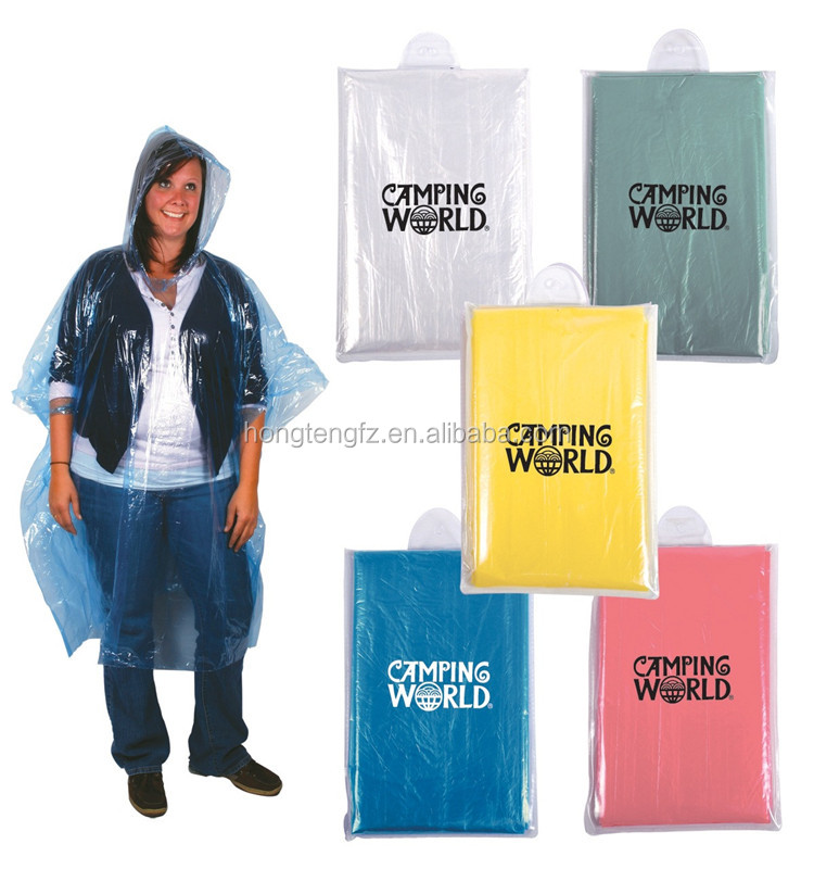 eco-friendly transparent PE waterproof poncho