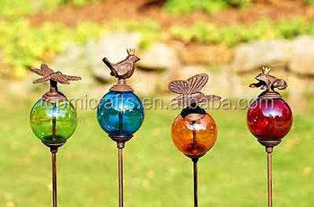 Cast Iron Glass Ball Garden Stick Buy Garden StickMetal Garden