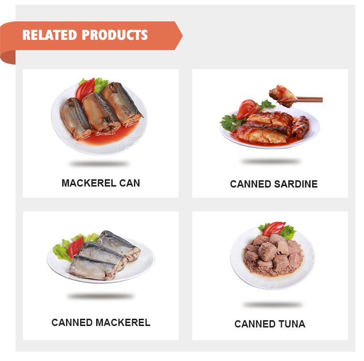 Top Conserves de poisson maquereau en conserve avec BRC HACCP HALAL poisson maquereau