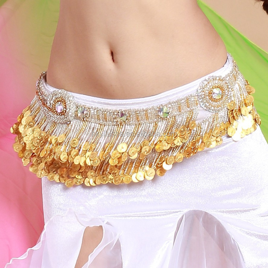 STELISY 2015 newest gold coins fringe belly dance belt