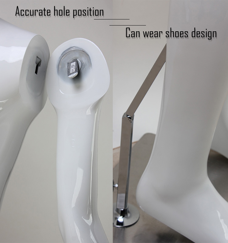 Fashion glossy white mannequin for clothing shop ghost mannequin