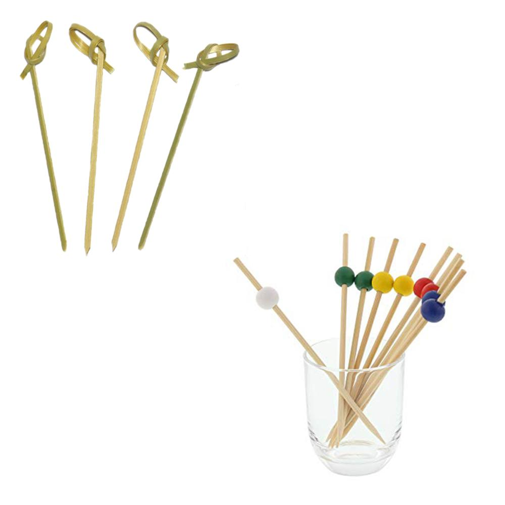 Wegwerp party 9/12/15 cm bamboe cocktail picks