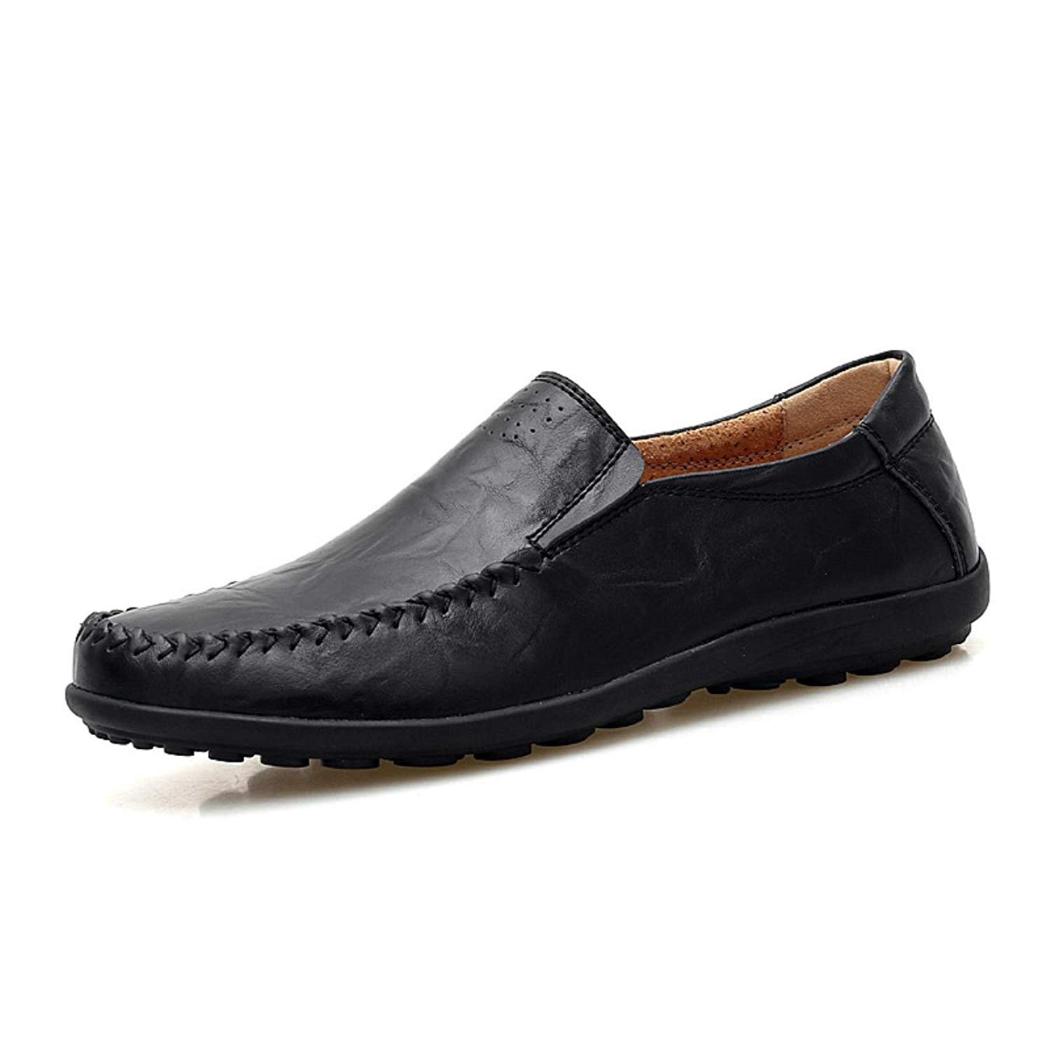 Italian Mens Shoes Casual Brands Genuine Leather Men Loafers Luxury Moccasins Comfy Breathable Slip On Boat Shoes Men