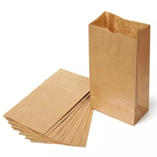 Wholesale Cheap Price Custom Printed Food Brown Kraft Paper Bag