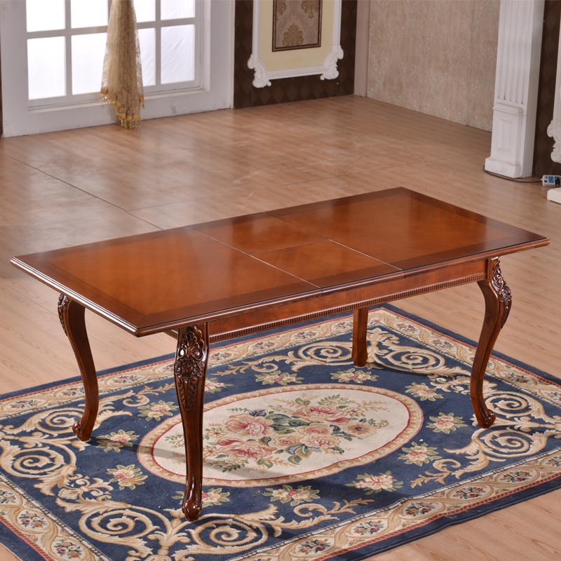 Neoclassic eettafel en stoelen uitschuifbare meubels set eiken ...
