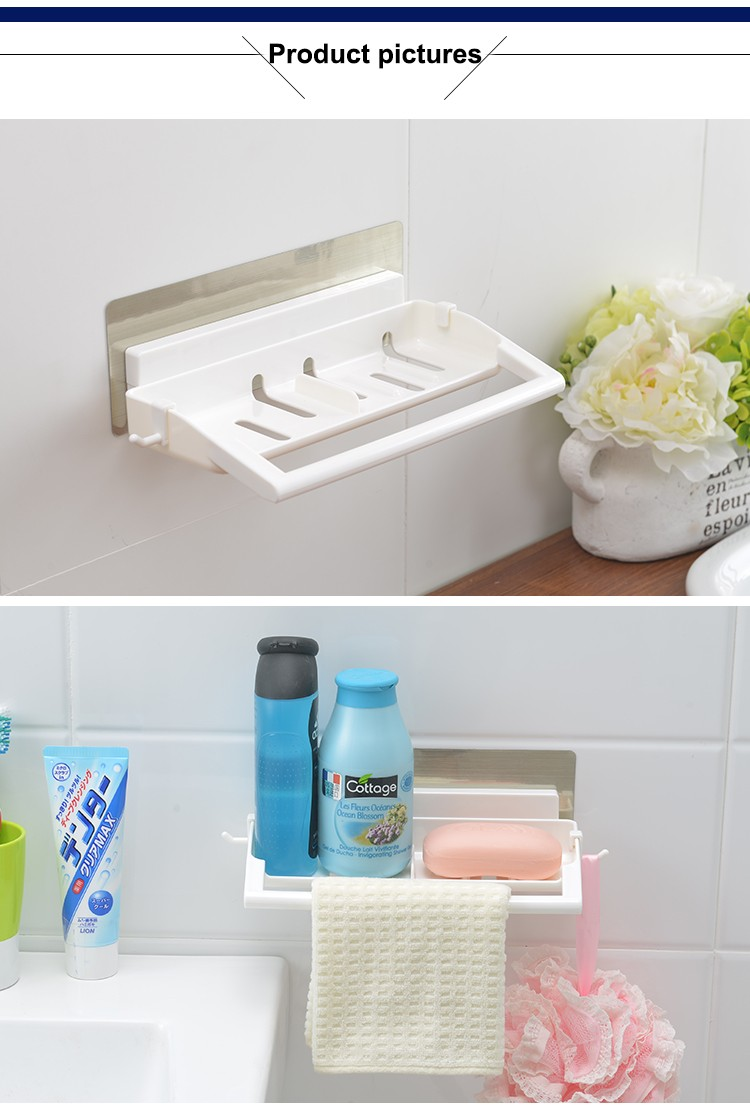 Wall Mounted Towel Rack Traceless Sticker Bathroom Phone Plastic ...