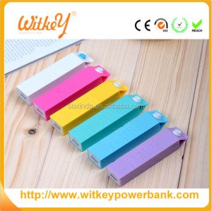 Milk box shape Power Stick Plastic 2600mAh Power Bank Portable Charger power bank